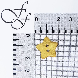 Bottone Stella oro satinato 17 mm