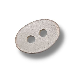 bottone ovale 13x9 mm argento rosè