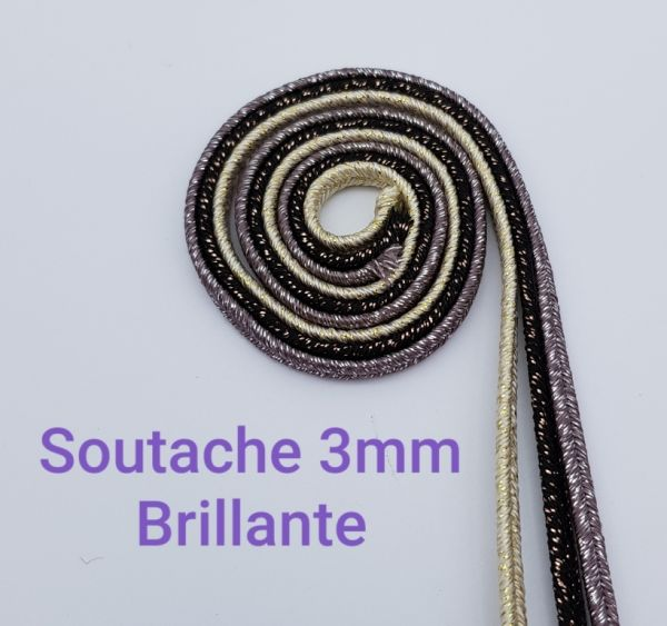 SOUTACHE 3mm BRILLANTE